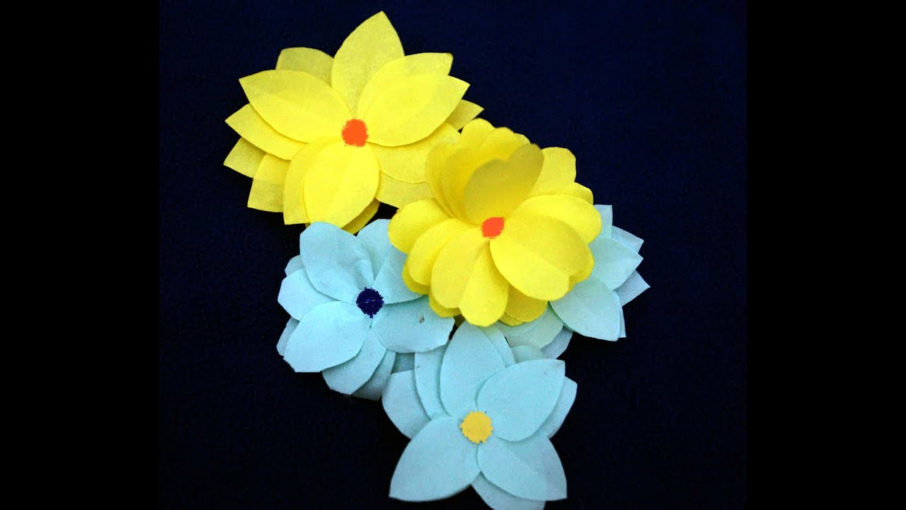 Easy paper flower making craft for children youtube easy paper flower making craft for children mightylinksfo