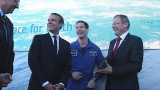 Pesquet joins ESA and NASA chiefs at Paris Air Show