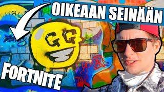 MAKING FORTNITE Graffiti REALLY-(Real Fortnite Graffiti)