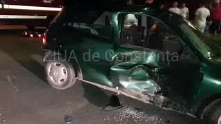 Accident rutier grav în centrul comunei Valu lui Traian. Un tânăr motociclist a murit pe loc (galeri
