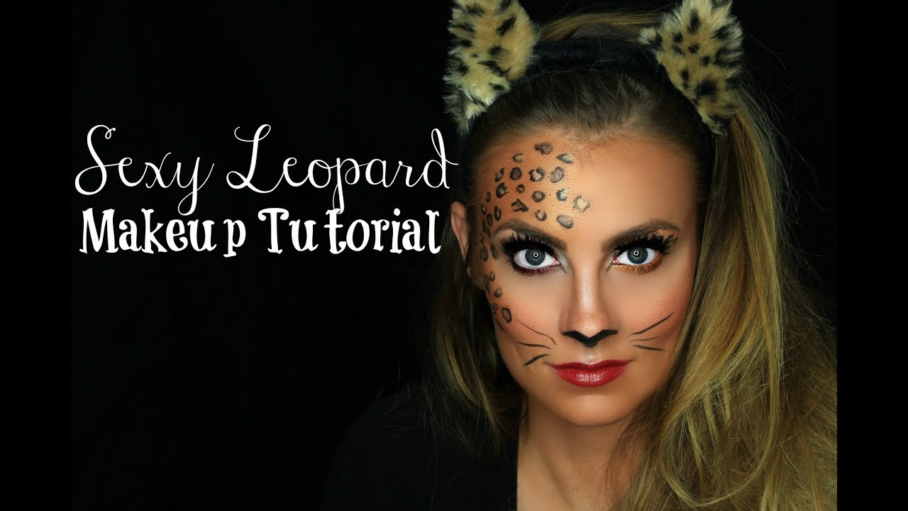 sexy leopard halloween makeup tutorial angela lanter easy last minute youtube