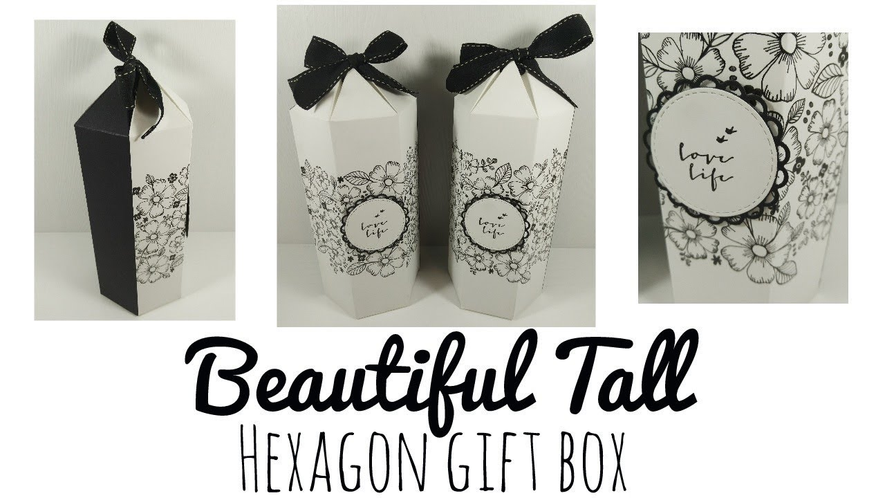 Beautiful Tall Hexagon Gift Box - YouTube