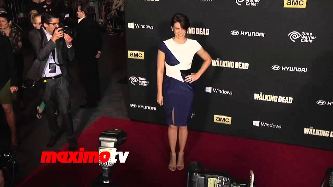 """Lauren Cohan """"The Walking Dead"""" Season 4 PREMIERE Red ..."""