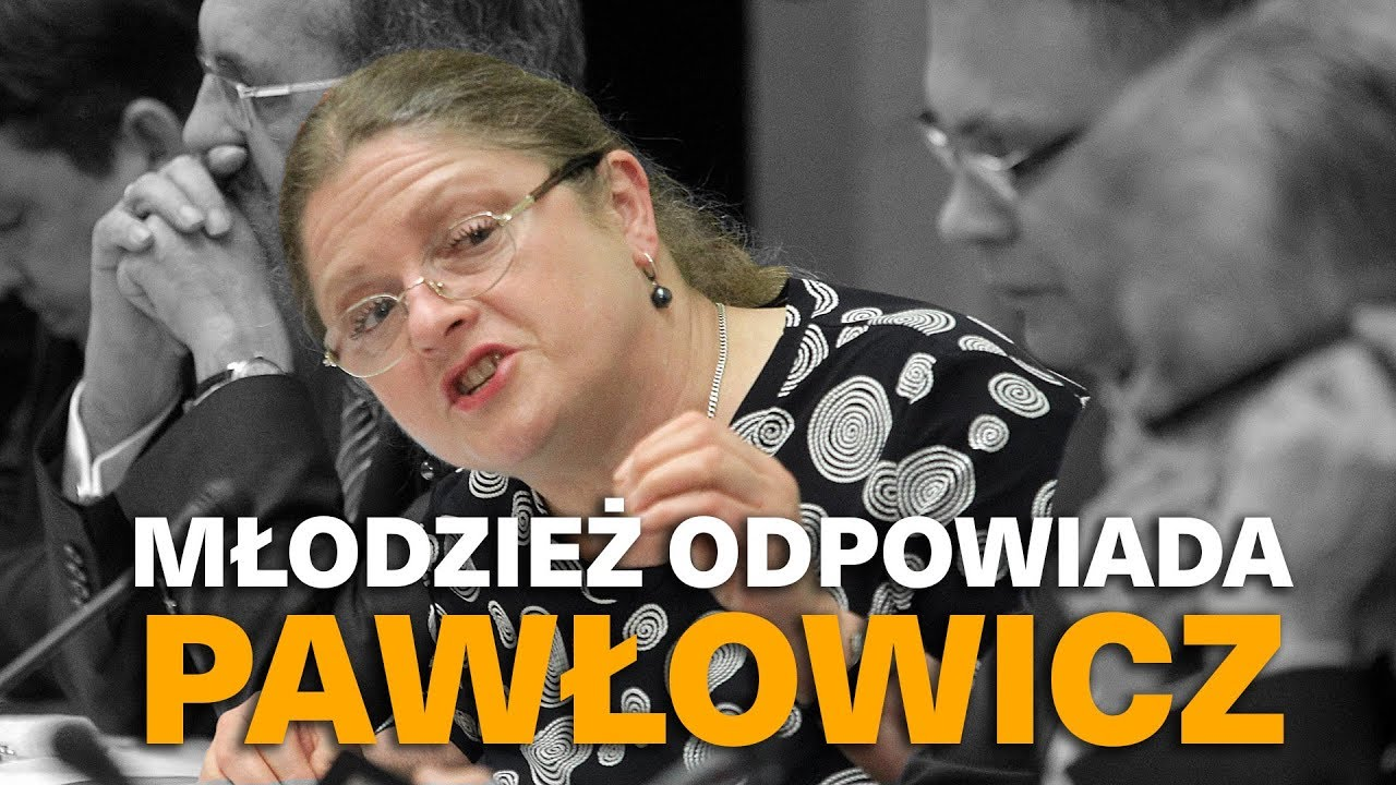 Młodzież odpowiada Krystynie Pawłowicz