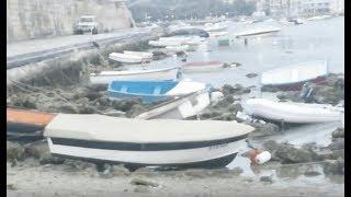 """Breaking """"Atmospheric Tsunami Hits Malta Ocean Waves Smashing Boats"""""""