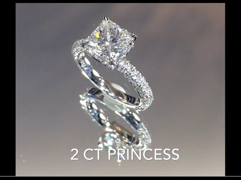 2 Carat Princess Cut Diamond Engagement Ring