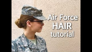 Realistic Air Force hair tutorial: How I do mine | Elora Jean