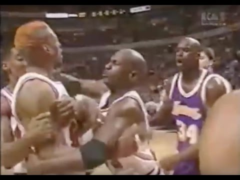 Dennis Rodman shuts down Shaq - 0 pts in 2nd Half/OT (Full Version)