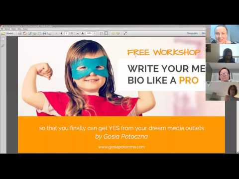 Write Your Media Bio Like a Pro - Workshop by Gosia Potoczna