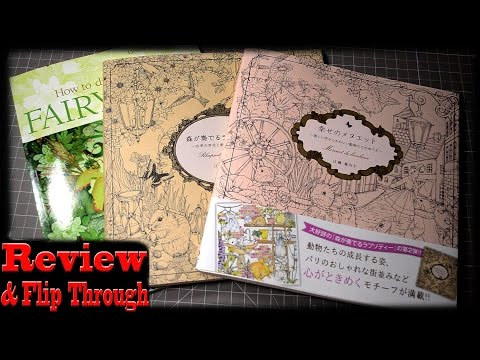 New Coloring Books Review | Menuet de Bonheur | Rhapsody in the Forest How to Draw & Paint Fairyland