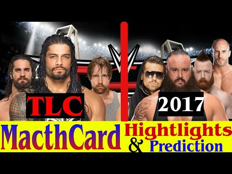 WWE TLC 2017 Match Card Highlights Prediction TLC 22 October 2017    wwe hindi KHaBaR  