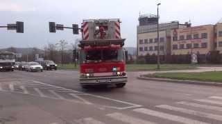 [Trąby + Q2B!!] Wyjazd alarmowy 303[K]51 SD 30 Hurricane/E-ONE z JRG 3 Kraków do akcji [HD] thumbnail