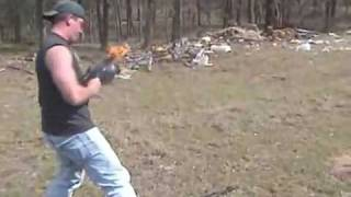 Burning AK47 - 300 Rounds & On Fire