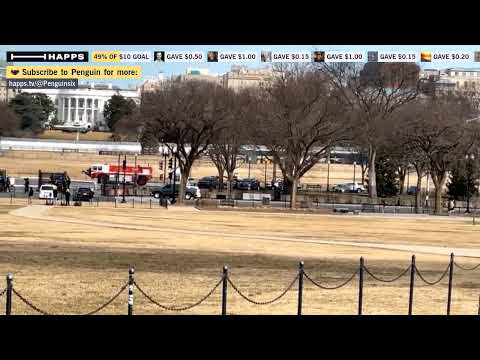 Watching Marine One take off from White House.