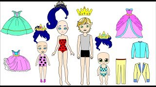 Download Ladybug Royal  Family- Drawing cloth for dolls Mp3 and Videos