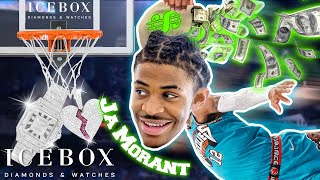 NBA Rookie of the Year Ja Morant Dunks $100K at Icebox!