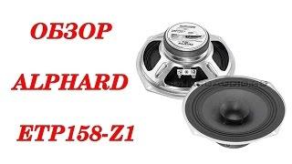 Обзор и прослушивание бюджетных широкополосных динамиков Alphard ETP158Z1