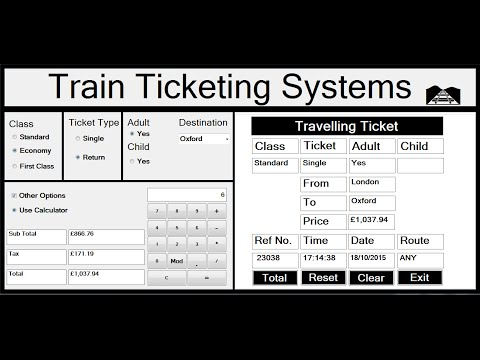 Visual Basic.Net Project of Train Ticketing Systems - Full Tutorial