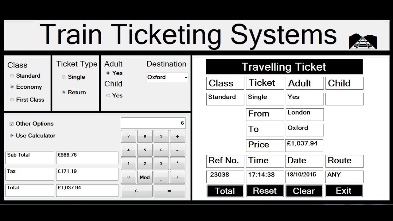 Visual Basic Net Project Of Train Ticketing Systems Full