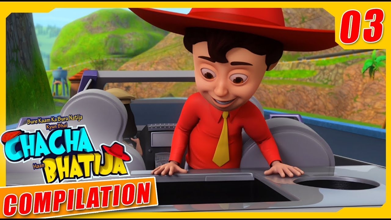 Chacha Bhatija | Animated Stories | New Compilation -03 | Hindi Stories | Wow Kidz Comedy