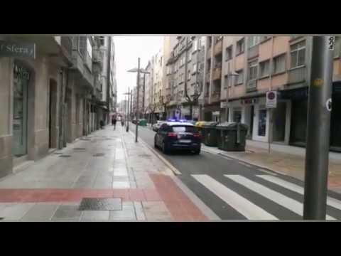 Pontevedra, el primer día laborable tras el decreto de alarma