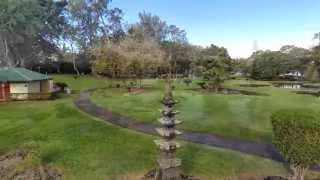Zenmuse H3-3D + DJI Phantom 2 Footage - Liliuokalani Gardens Hilo Hawai