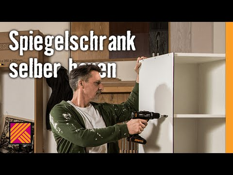 spiegelschrank selber bauen hornbach m belbau youtube. Black Bedroom Furniture Sets. Home Design Ideas
