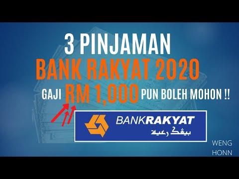 3 Pinjaman Bank Rakyat 2020 Golongan Gaji Rendah Rm1 000 Pun Boleh Mohon Youtube