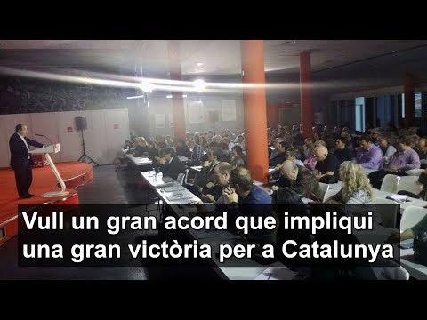 Vull un gran acord que impliqui una gran victòria per a Catalunya