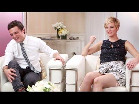 Hilarious Jennifer Lawrence & Josh Hutcherson  2013