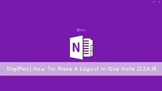 DigiPlan|How To- Make A Layout In Onenote|2.17.18