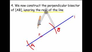 Construct a line perpendicular to a given line through a point ON the line (compass)