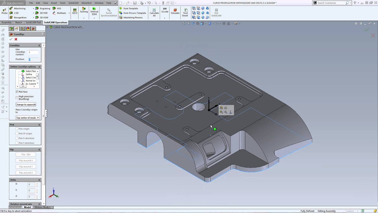 Create CAD CoordSys Under CAM CoordSys