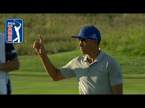 Rickie Fowler's chip-in birdie makes it six in a row at BMW