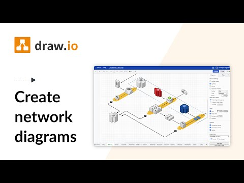 Create infrastructure and network diagrams quickly and easily in draw io