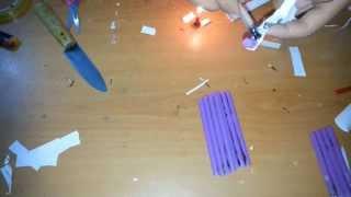 pipet ve kağıttan kelebek bıcak yapımı