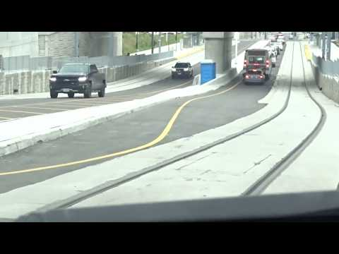 Waterloo Region ION LRT New Line On King St From Allen St To Victoria St