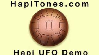 HAPI UFO Drum - Steel Tongue Drum demo by John Pascuzzi in the Hapi Drum Hang Out - HapiTones.com