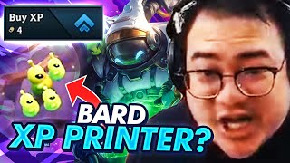 MY FIRST GAME WITH NEW UNITS! XP PRINTER BARD! | TFT | Teamfight Tactics Galaxies