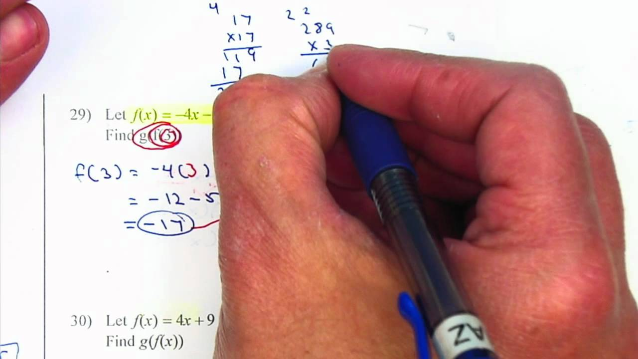 Algebra 2 Chapter 5 Practice Test - YouTube