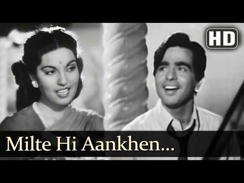 Milte Hi Aankhen (HD) - Babul Songs - Dilip Kumar - Nargis - Talat Mahmood - Filmigaane