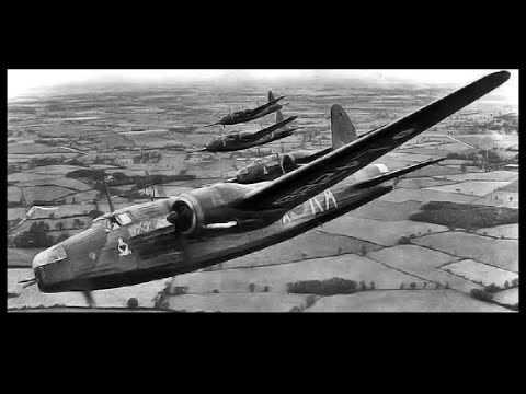 Target for Tonight: RAF Vickers Wellington Bombers in a Night Action - 1941