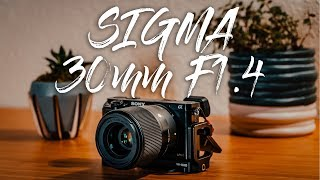 Sigma 30mm 1 4 Review Sony E mount - The Highest Rated APS-C lens EVER