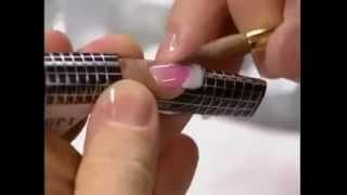 Наращивание ногтей акрилом формы, типсы Часть 6