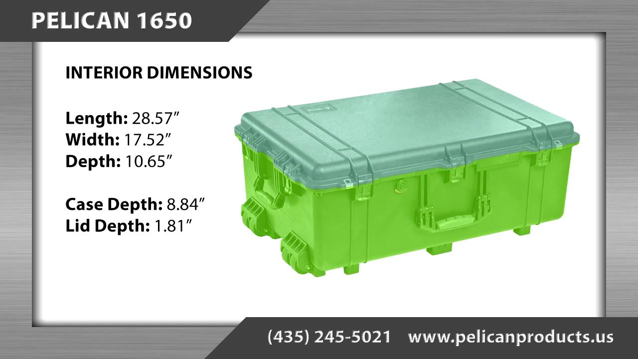 Pelican Case 1650 Information Youtube