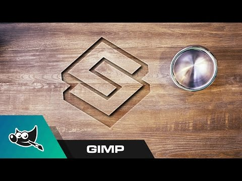 GIMP Tutorial: Carved Wood Logo Mockup