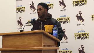 Wyoming WR Austin Conway discusses running 'wrong play' on go-ahead TD against Air Force