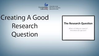 This video walks you through four steps to developing a good research question: step one: find an issue that interests you. two: explore the issue. step...