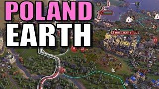 Civ 6: Poland Gameplay [True Start Earth Location Map] Let's Play Civilization 6 Poland | Part 13