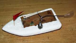 How to make a flapping fin propulsion toy boat